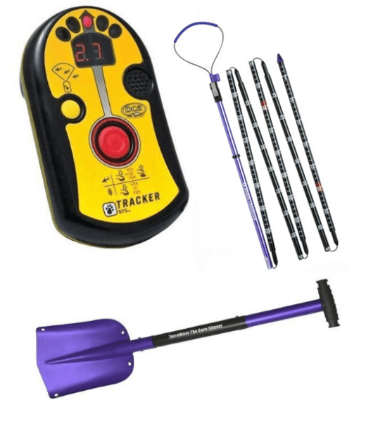 BCA DTS Tracker Package, BCA DTS Tracker, Black Diamond Quickdraw Tour Probe 240, Terrawest Core Shovel