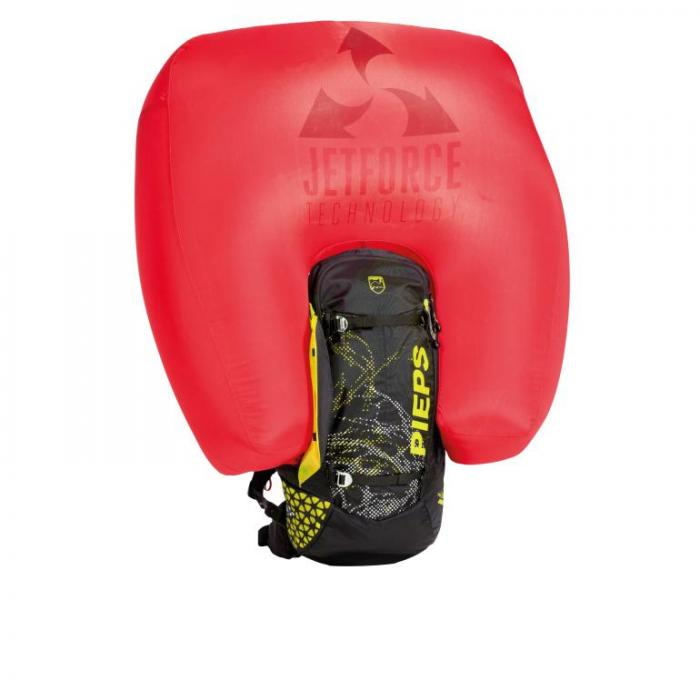 Pieps Tour Rider 24 Jetforce Airbag - Black/Yellow - Inflated Airbag