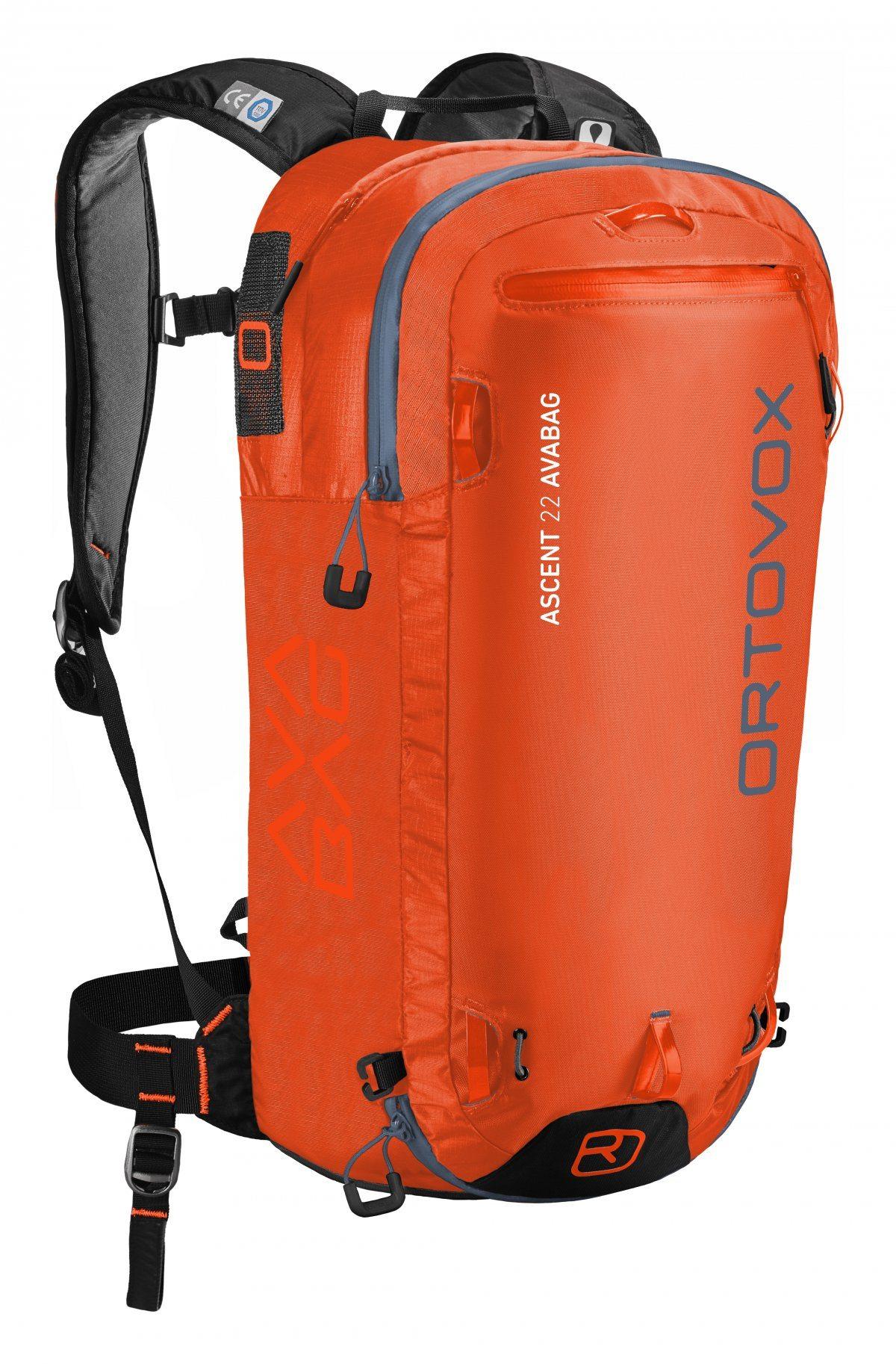Ortovox Ascent 22 Avabag - Crazy Orange - Front View