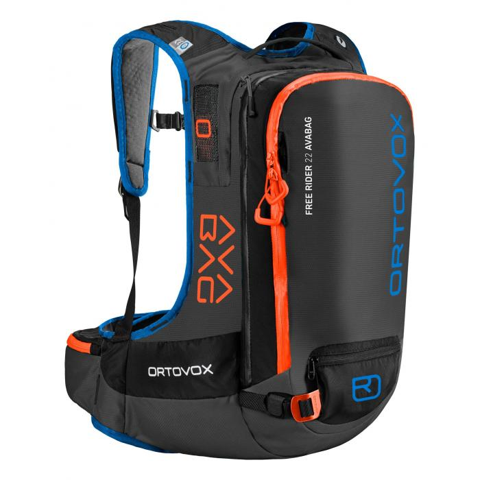 Ortovox Freerider 22 Avabag - Crazy Orange - Front View