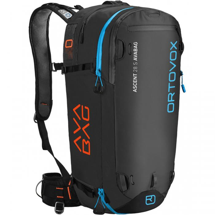 Ortovox Ascent 22 Avabag Backpack - Front View - Black Anthracite