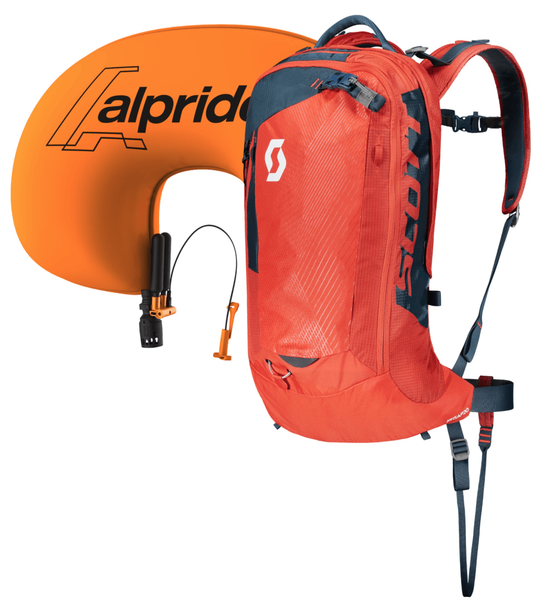 Inflated Airbag System - Scott Backcountry Pro AP 20 Kit - Burnt Orange/Eclipse Blue