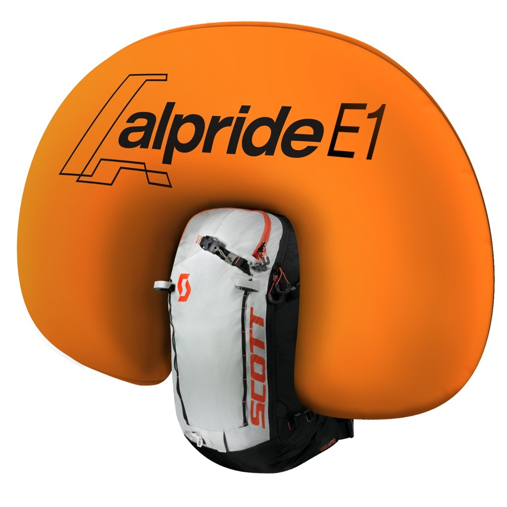 Alpride E1 System - Inflated Airbag - Scott Backcountry Patrol AP 30 Kit