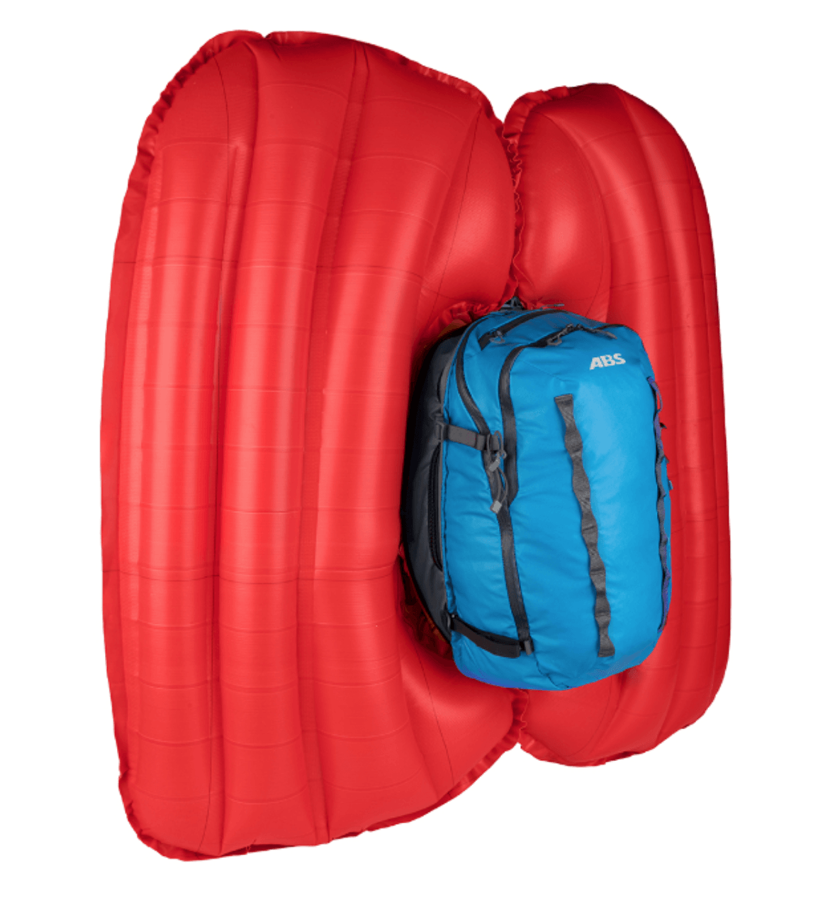 Front View - Sky Blue - Inflated Twin Airbag - ABS P.Ride Compact Base Unit + 18L Zip-on