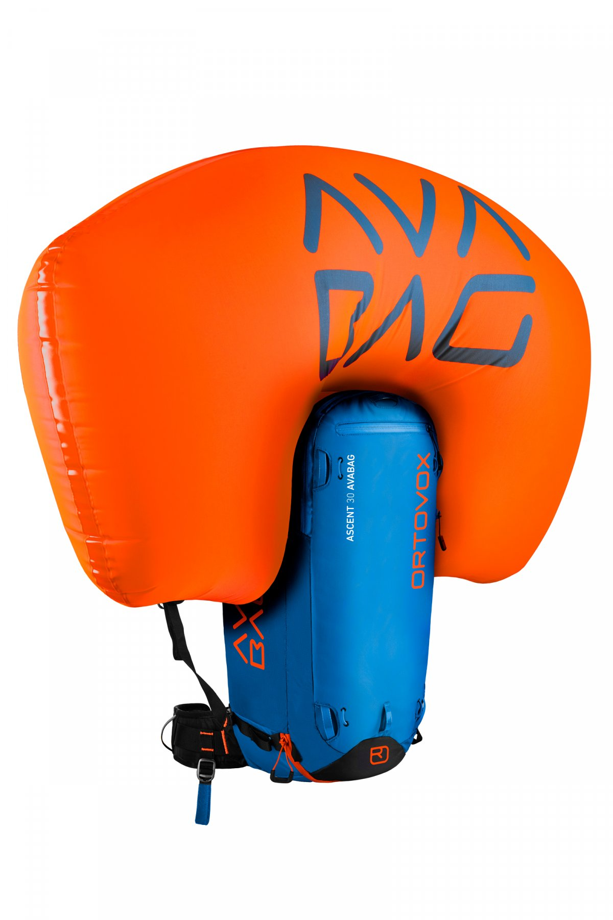 Safety Blue - Inflated Airbag - Ortovox Ascent 30 Avabag