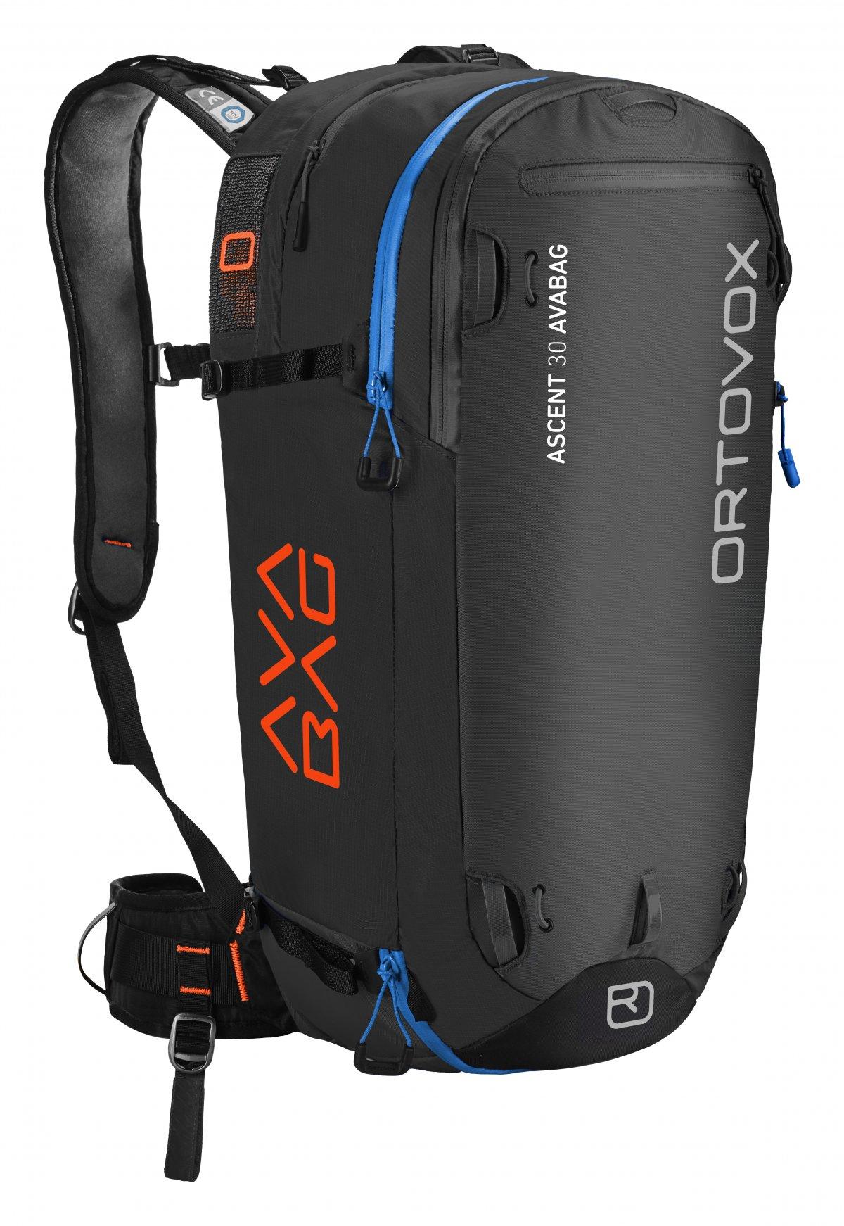 Front View - Black Anthracite - Ortovox Ascent 30 Avabag Backpack