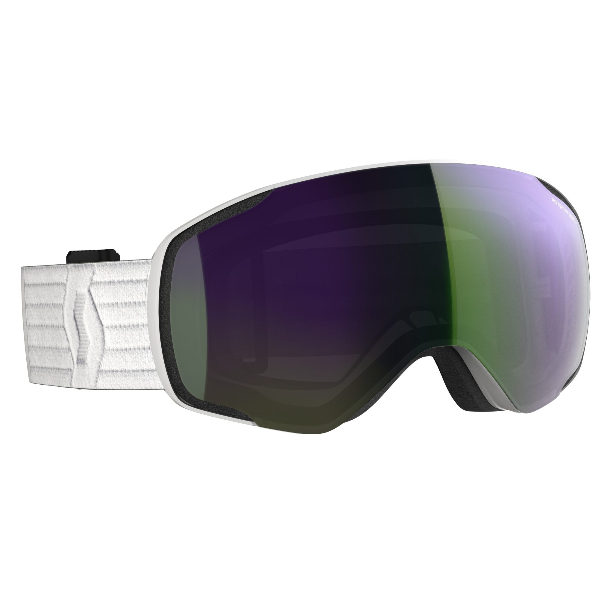 Scott Vapor Goggle - White Enhancer Green Chrome - Front View