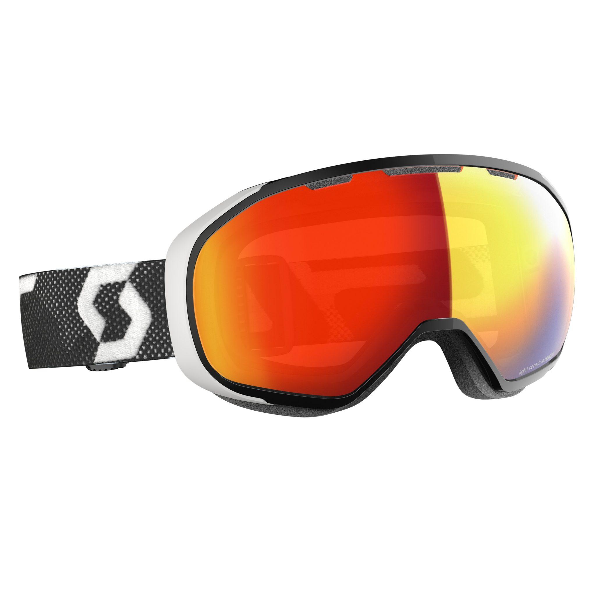 Scott Fix Light Sensitive Goggle - Black/White LS Red Chrome - Front View