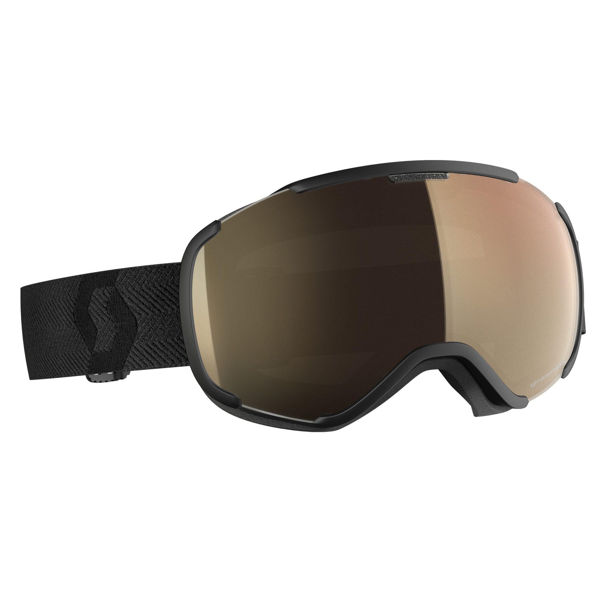 Scott Faze II Light Sensitive Goggle - Black LS Bronze Chrome - Front View