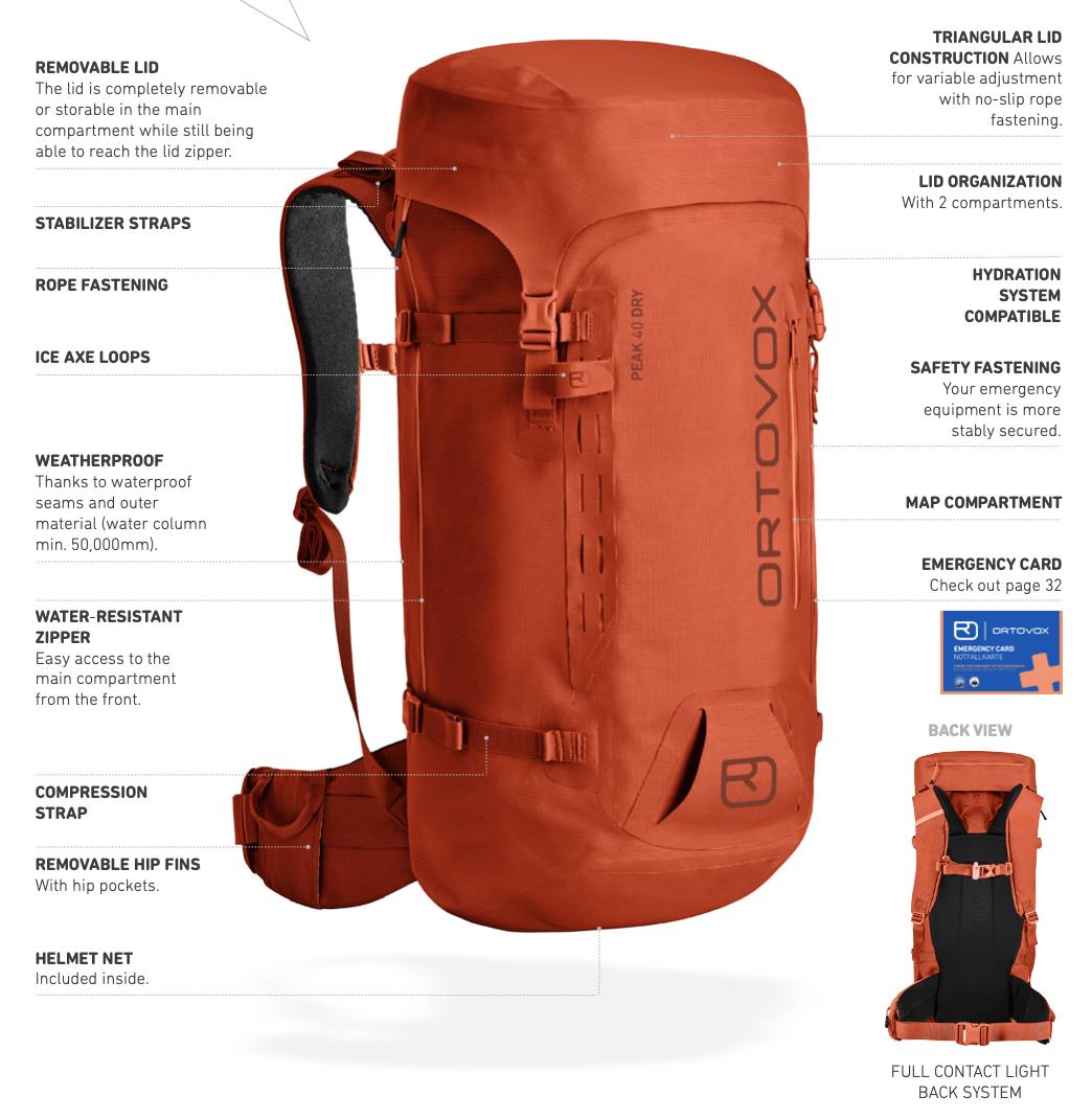 Ortovox High Alpine Series Features