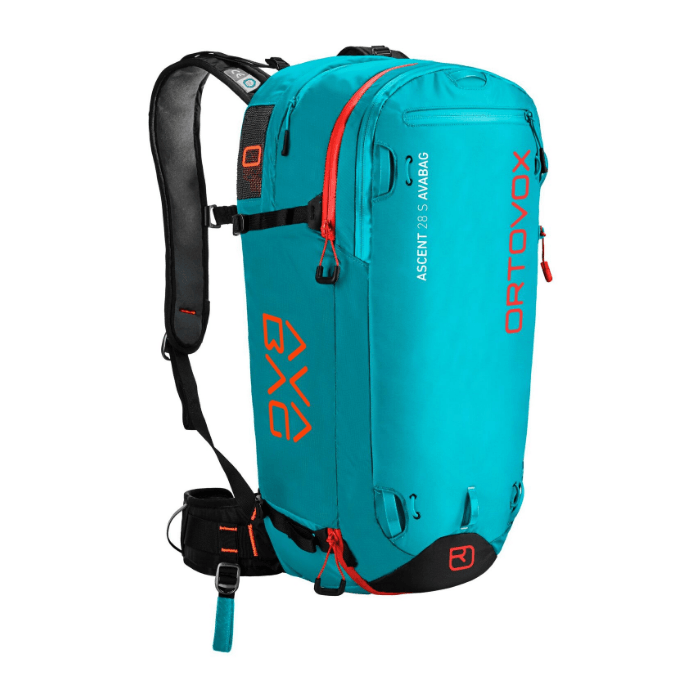 Front View - Ortovox Ascent 28 S Avabag - Aqua
