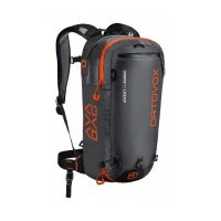 Ortovox Ascent 22 Avabag - Front View - Black/Orange