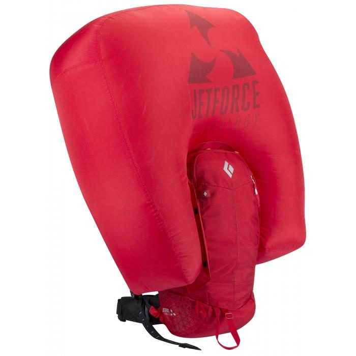 Inflated Airbag - Black Diamond Halo 28 Jetforce Airbag - Fire Red
