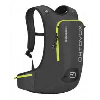 Ortovox Powder Rider 16L - Black Anthracite - Front view - diagonal ski fastener