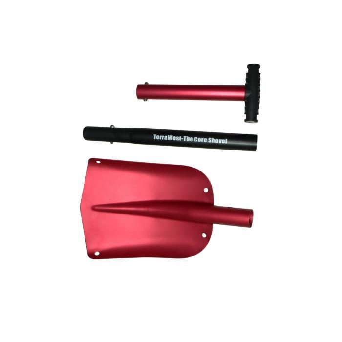 Sectioned into Three Easy to Store Parts - Red - TerraWest Core Shovel