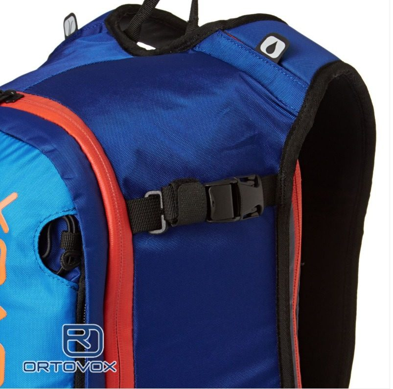 Hydration System compatible shoulder straps - Ortovox Cross Rider 20 - Strong Blue