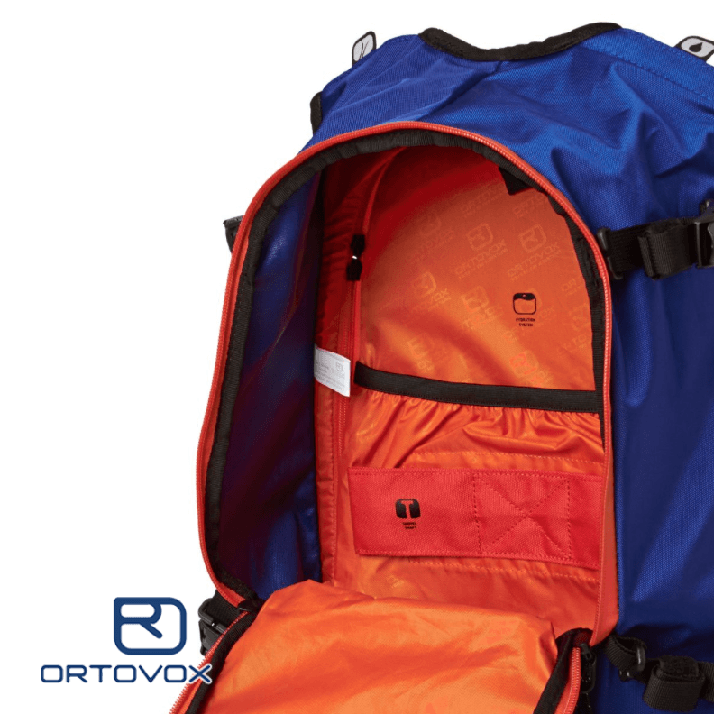 Shovel and Probe Pocket - Ortovox Cross Rider 20 - Strong Blue
