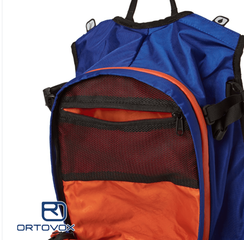 Extra Storage Pockets - Ortovox Cross rider 20 - Strong Blue