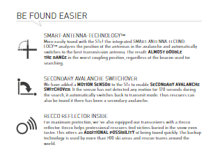 Be Found Easier Technology Information - Ortovox S1 Plus Transceiver