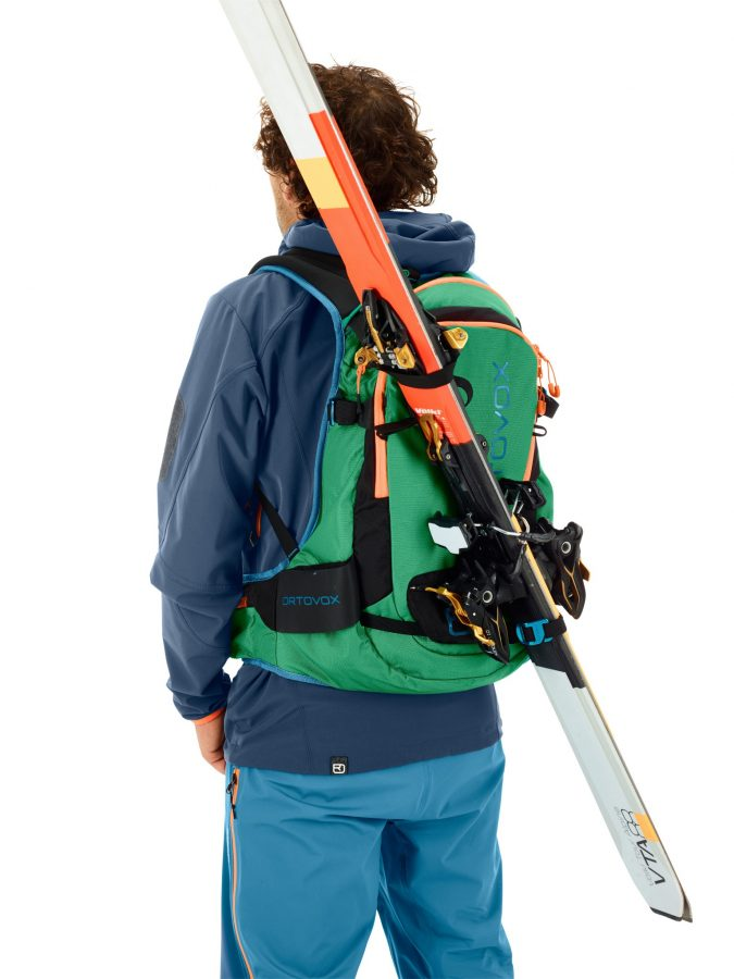 D-Skifix carrying ski Method - Ortovox Free Rider 24