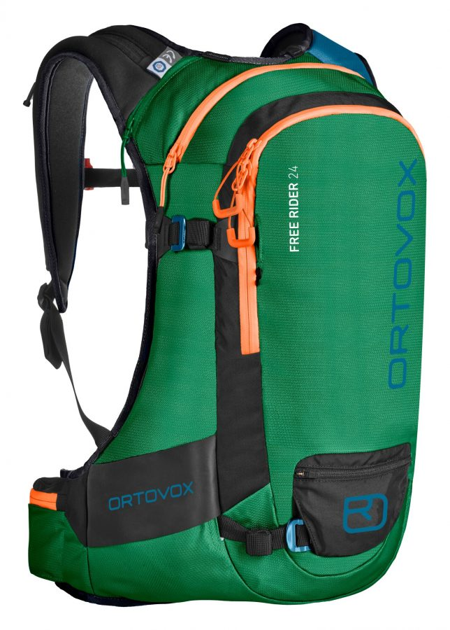 Front View - Ortovox Free Rider 24 - Irish Green