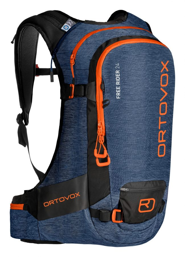 Front View - Ortovox Free Rider 24 - Night Blue Blend