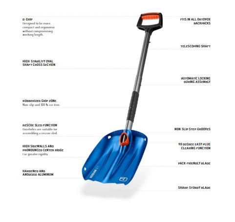 Product Information - Blue - Ortovox Kodiak Shovel