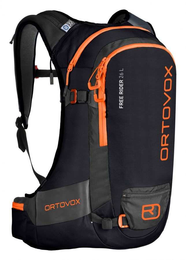 Front View - Ortovox Freerider 26L - Black Raven