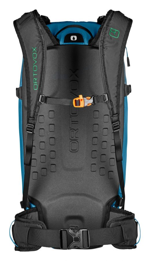 Back view - 3D back system for stability - Ortovox Ascent 32L Tour Series