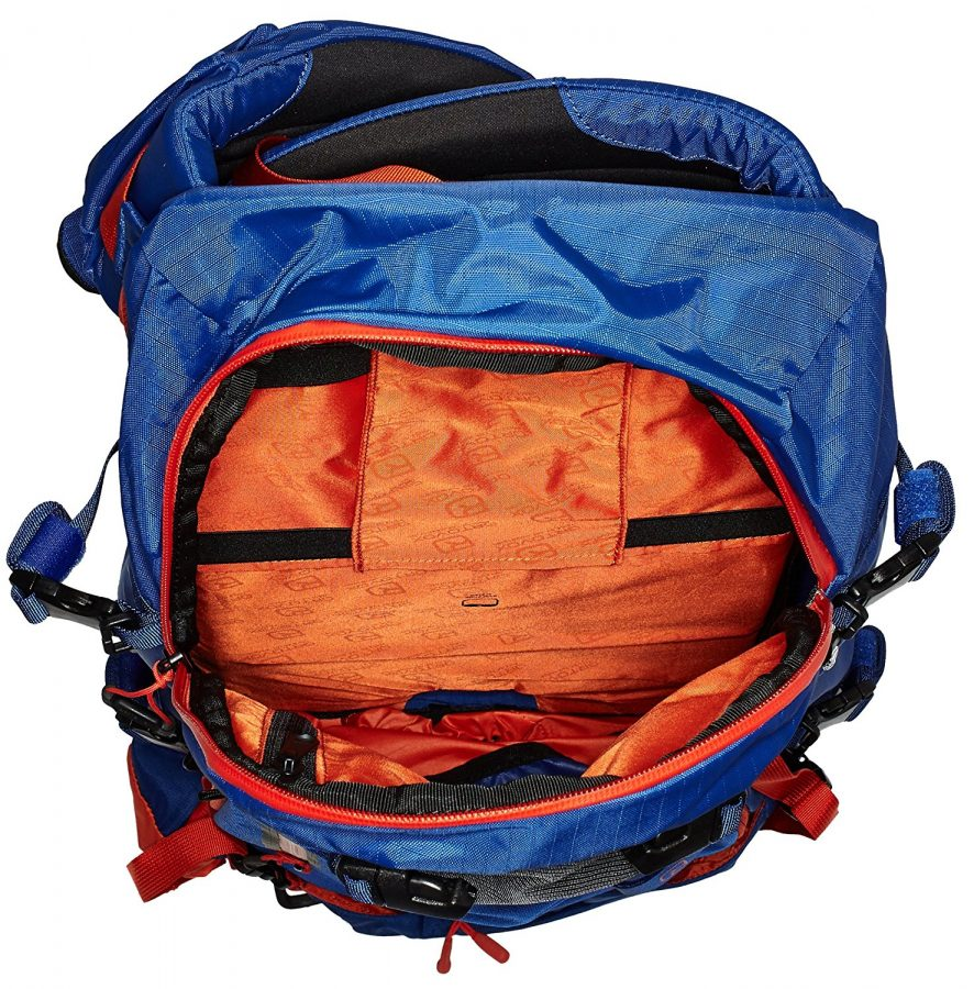Top Loading Pockets for shovel and probe - Ortovox Peak 35 - Strong Blue