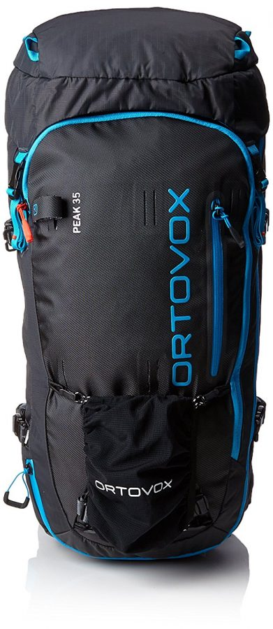 Front View - Ample attachment possibilities and loops - Ortovox Peak 35 - Black Anthracite