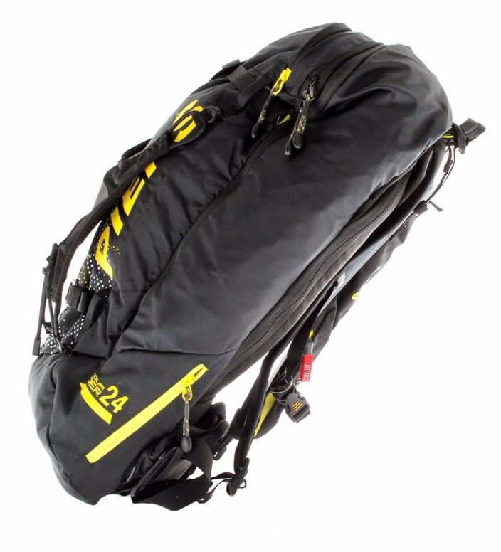 Side View - Pieps Tour Rider 24 Jetforce Airbag - Black/Yellow