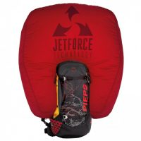 Pieps Tour Pro 34 Jetforce Airbag - Black/Red - Front View - Inflated Airbag