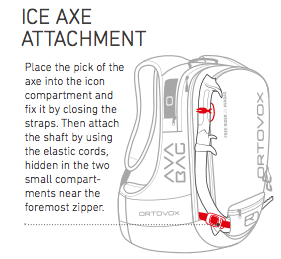 Ice Axe Attachment - Ortovox Freerider 22 Avabag