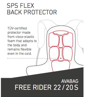 SPS Flex Back Protector - Ortovox Freerider 22 Avabag