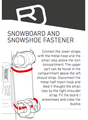 Snowboard and Shoe fastener - Ortovox Freerider 22 Avabag