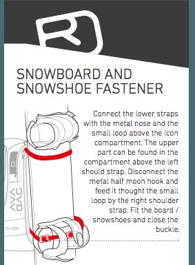 Snowboard and Shoe fastener - Ortovox Freerider 22 Avabag