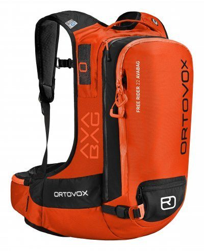 Front View - Ortovox Freerider 22 Avabag - Crazy Orange