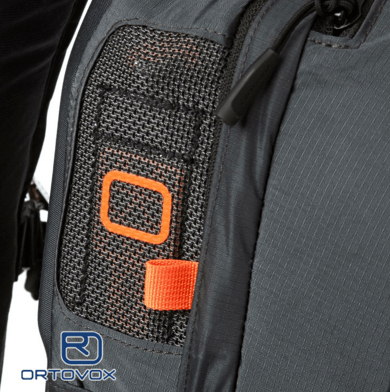 Airbag Ventilation - Ortovox Ascent 22 Avabag - Black Anthracite