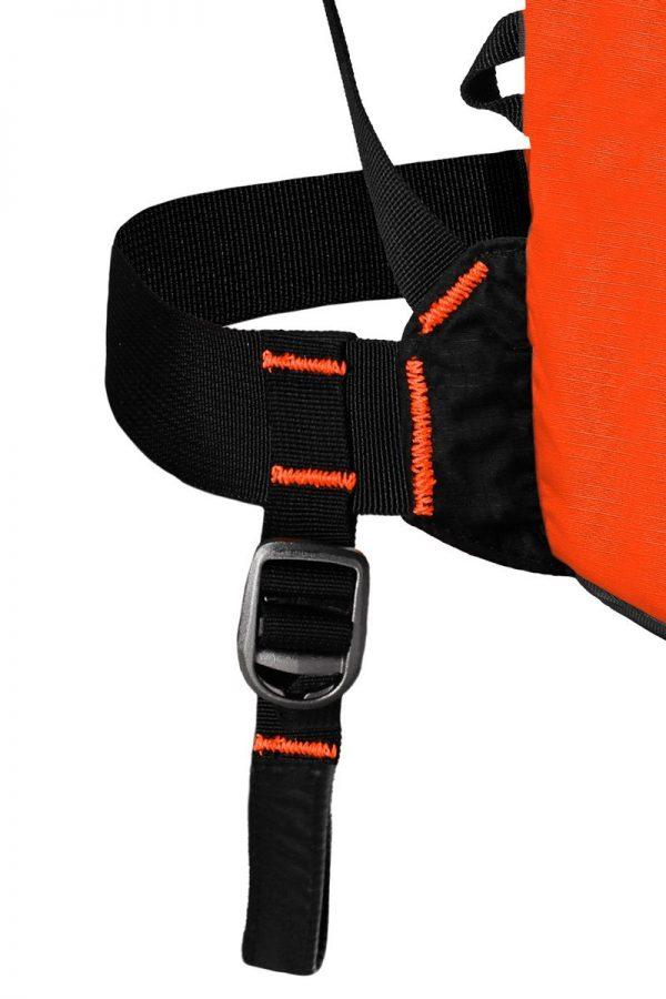 Back View - Leg Strap - Ortovox Ascent 22 Avabag - Crazy Orange