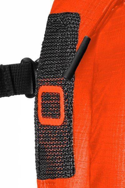 Airbag Ventilation - Back View - Ortovox Ascent 22 Avabag - Crazy Orange