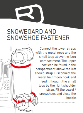 Snowboard and snowshoe fastener - Ortovox Freerider 20 S Avabag