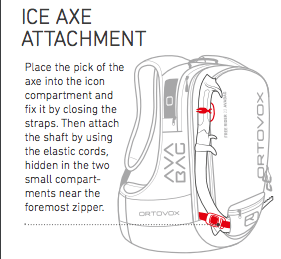 Ice Axe Attachment - Ortovox Freerider 20 S Avabag