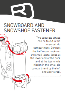 Snowboard and snowshoe fastener - Ortovox Ascent 28 S Avabag