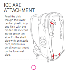 Ice Axe Attachment - Ortovox Ascent 28 S Avabag