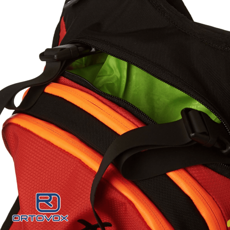 Compression Straps - Ortovox Free Rider 18 L - Crazy Orange -
