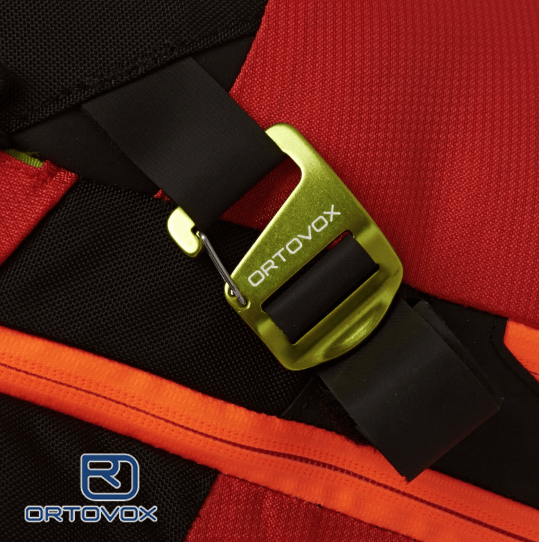 Ski or Snowboard Carry Strap - Ortovox Free Rider 18 L - Crazy Orange