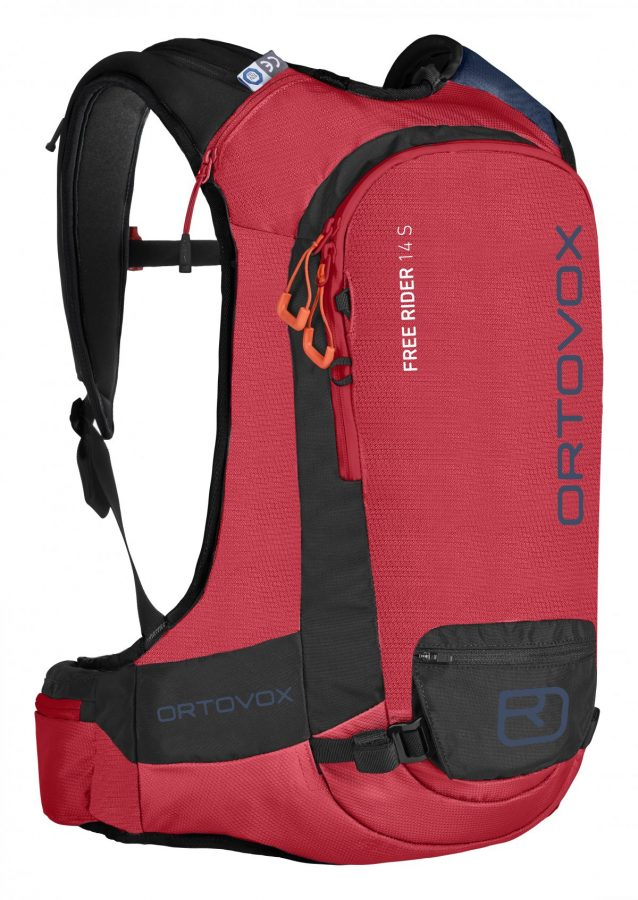 Front View - Ortovox Freerider 14S Backpack - Hot Coral
