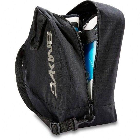 Dakine Boot bag 30L - Packed boots back view - Black