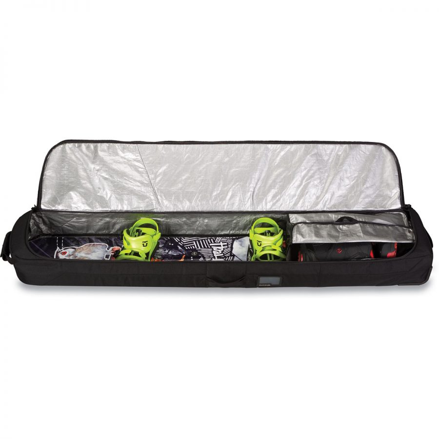 Dakine Low Roller Snowboard Bag - Packed Snowboard / Boots - Black